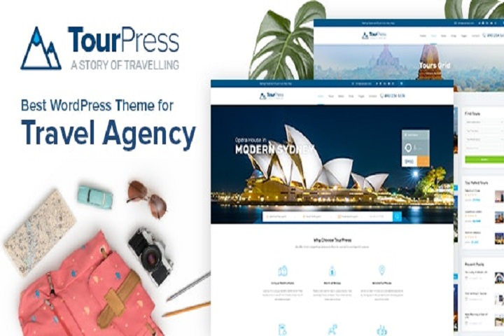 TourPress - Travel Booking WordPress Theme