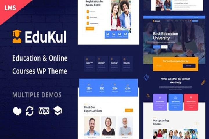 Edukul | Online Courses WordPress Theme