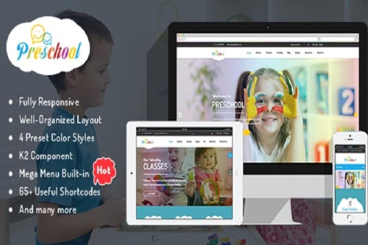 Preschool - Children Education Joomla Template for Kindergarten, Child Care Centers